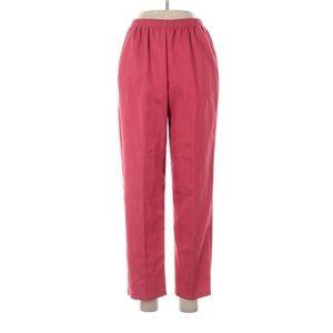 Alfred Dunner Dress Pink Pants